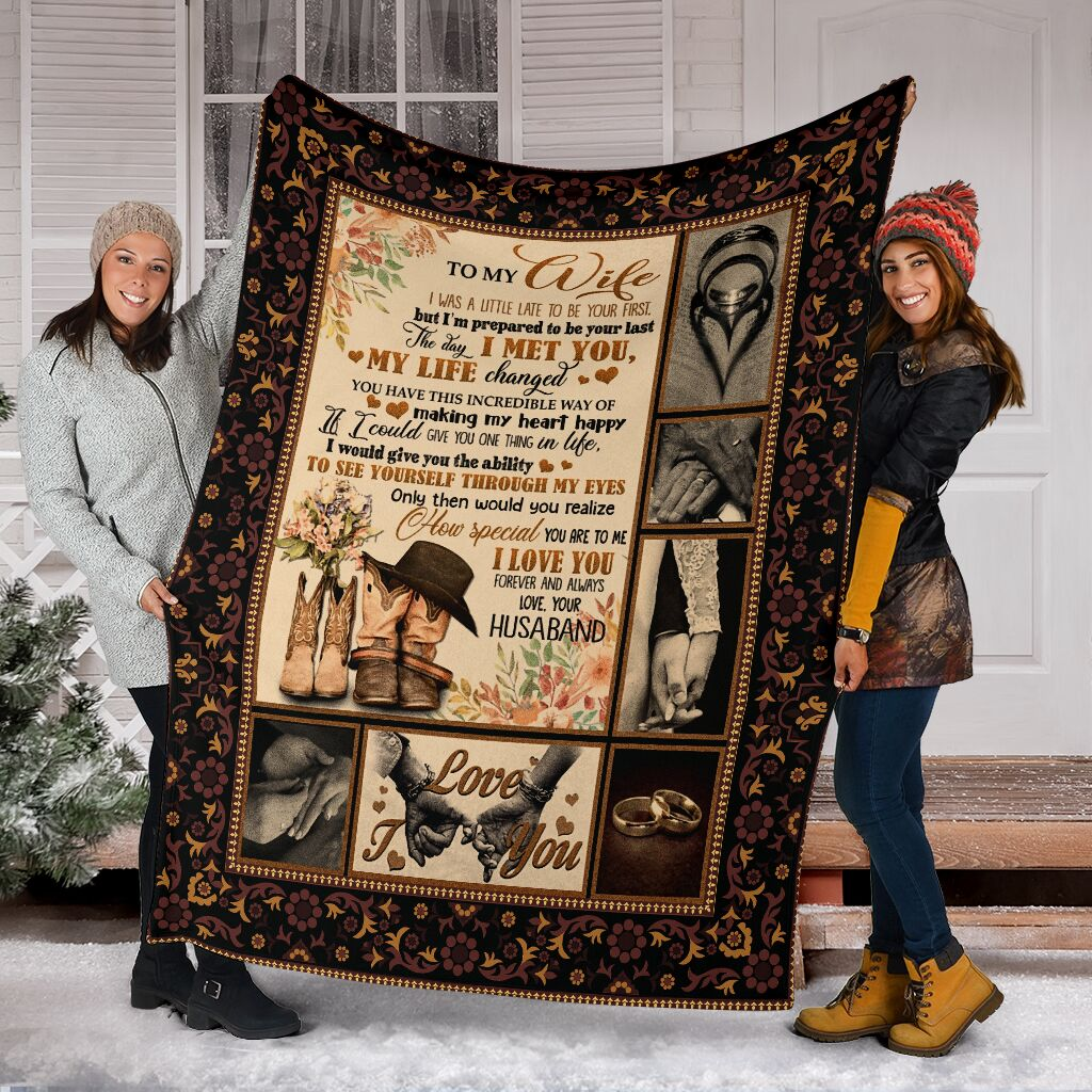 to my wife the day i met you my life changed full printing blanket 5