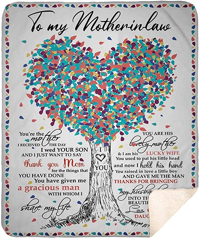 tree of love to mother-in-law thanks for bringing my husband love daughter-in-law blanket 3
