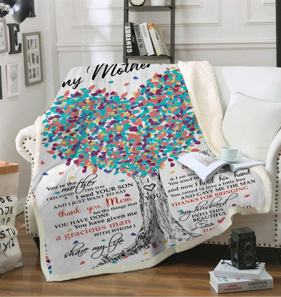 tree of love to mother-in-law thanks for bringing my husband love daughter-in-law blanket 4