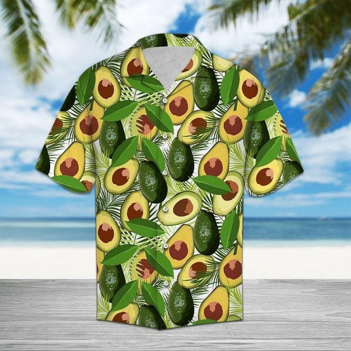 tropical avocado all over printed hawaiian shirt 3