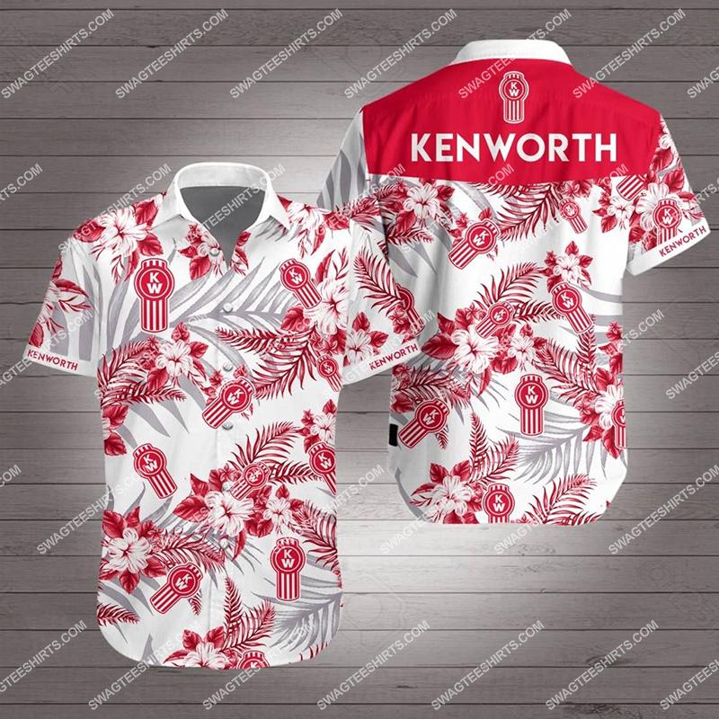 tropical kenworth all over print hawaiian shirt 2