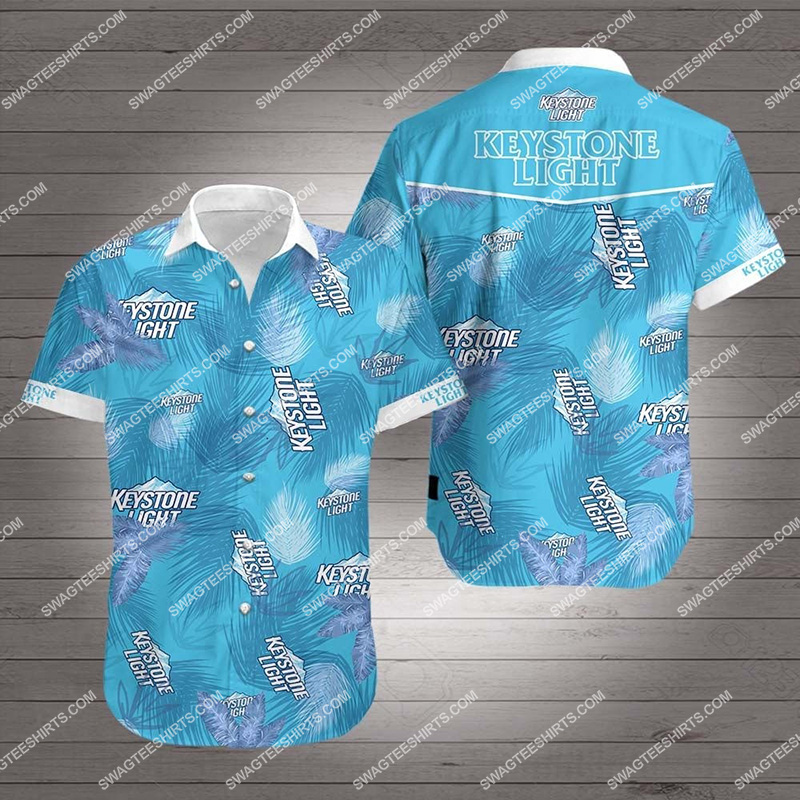 tropical keystone light beer all over print hawaiian shirt 2 - Copy (3)