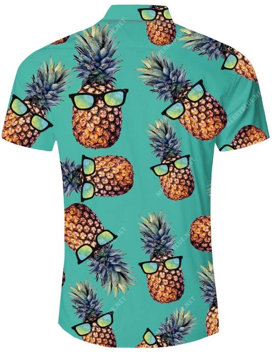 tropical summer pineapple all over printed hawaiian shirt 5