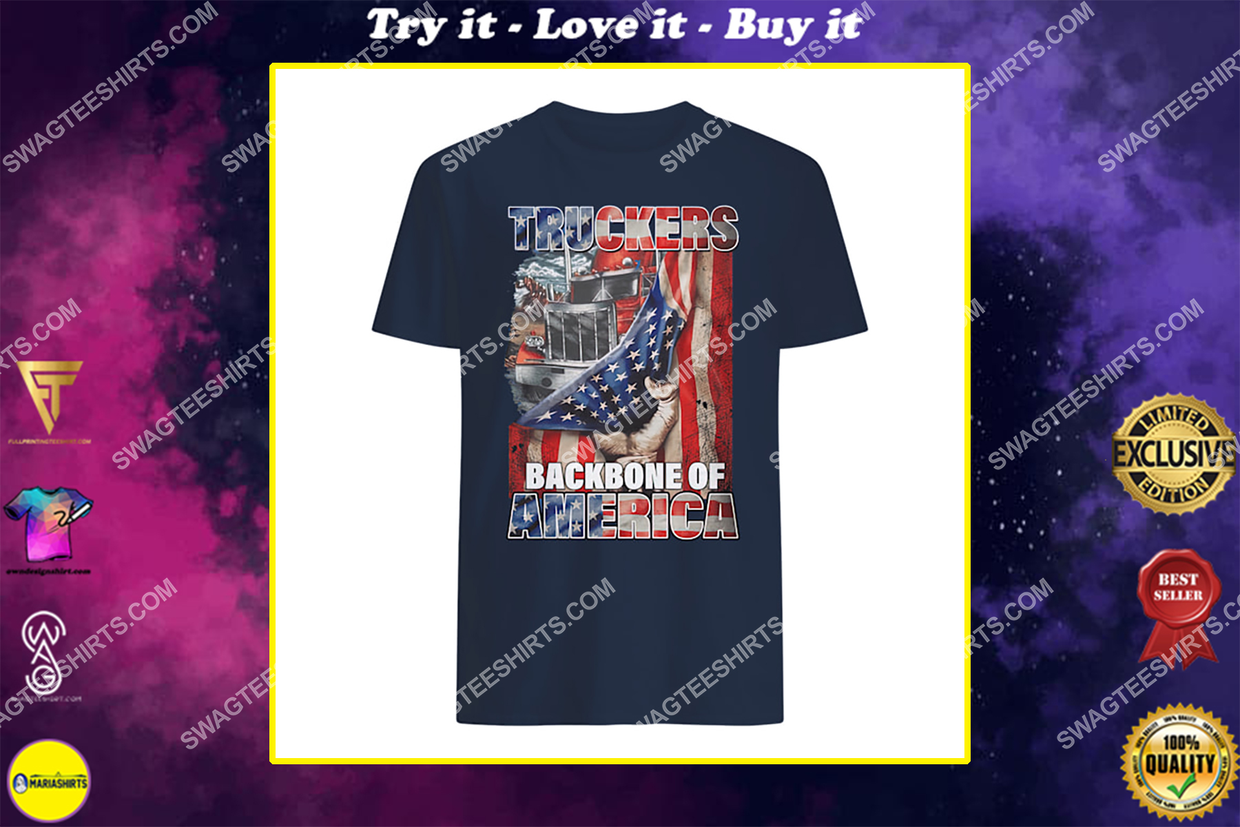 truckers backbone of america american flag happy independence day shirt