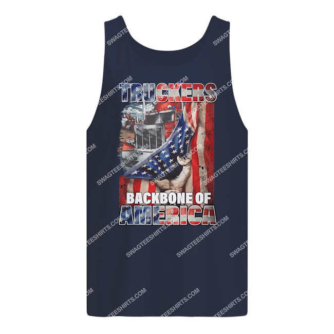 truckers backbone of america american flag happy independence day tank top 1