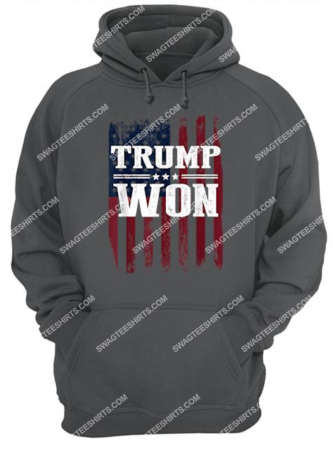 trump won 4th of july american flag hoodie 1