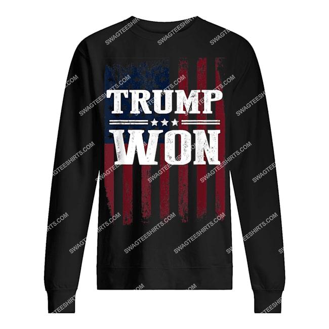 trump won 4th of july american flag sweatshirt 1