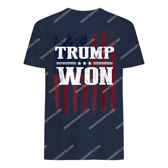 trump won 4th of july american flag tshirt 1