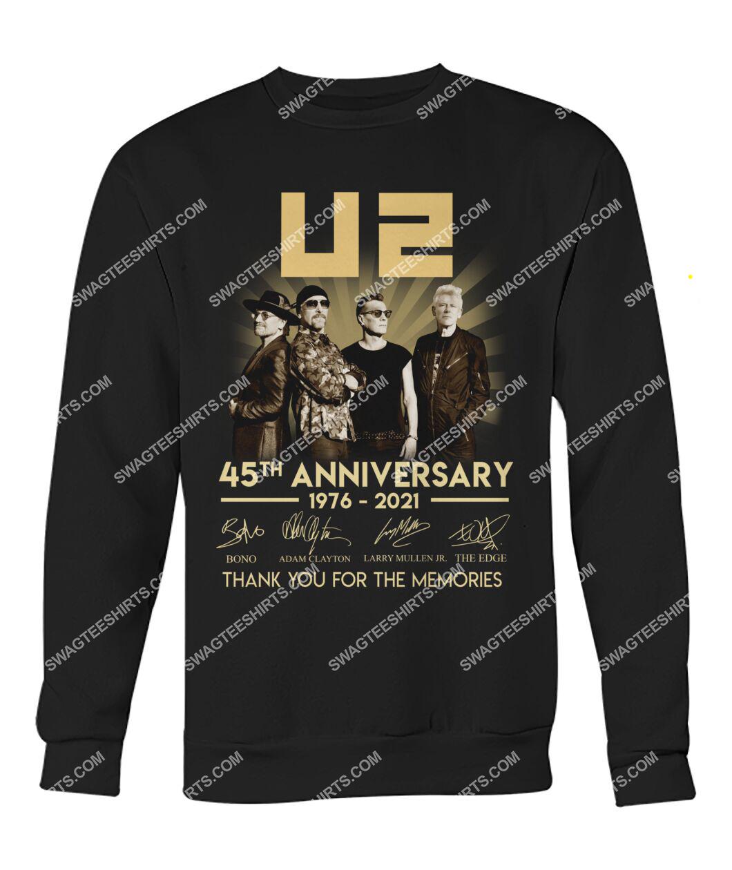 u2 music band 45th anniversary thank you for memories signatures sweatshirt 1