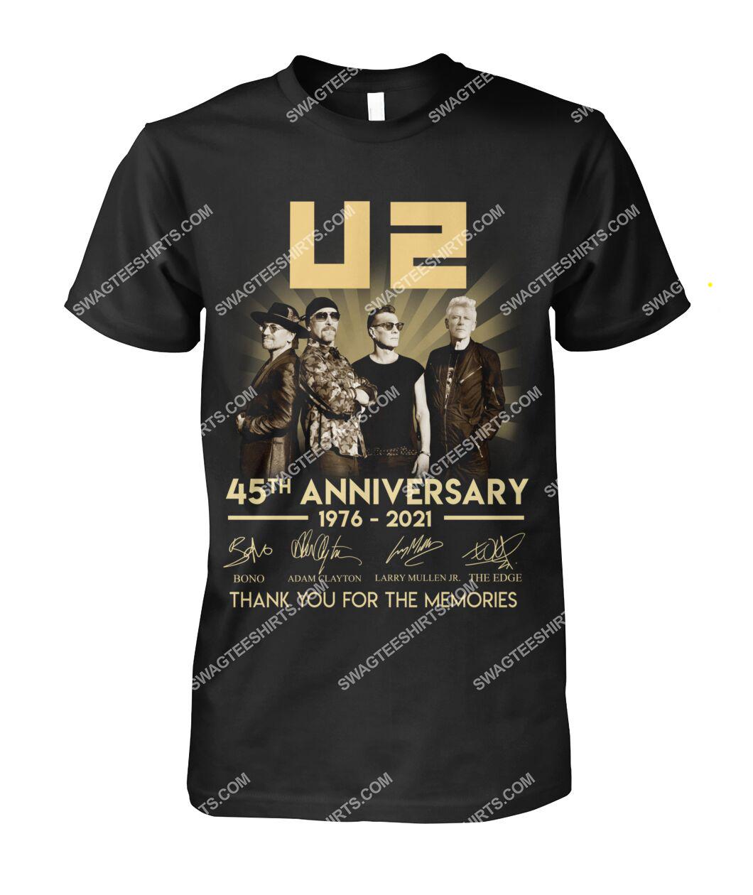 u2 music band 45th anniversary thank you for memories signatures tshirt 1