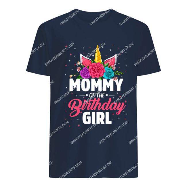 unicorns mommy of the birthday girl for birthday gift tshirt 1