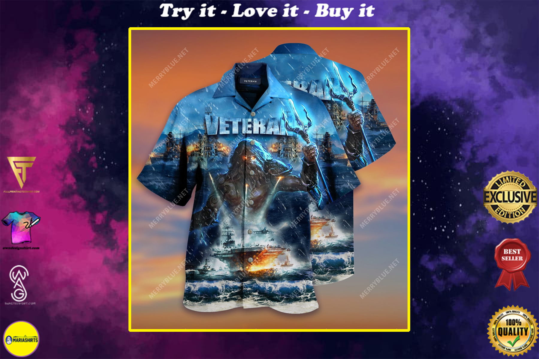 united state veterans on the ocean all over printed hawaiian shirt