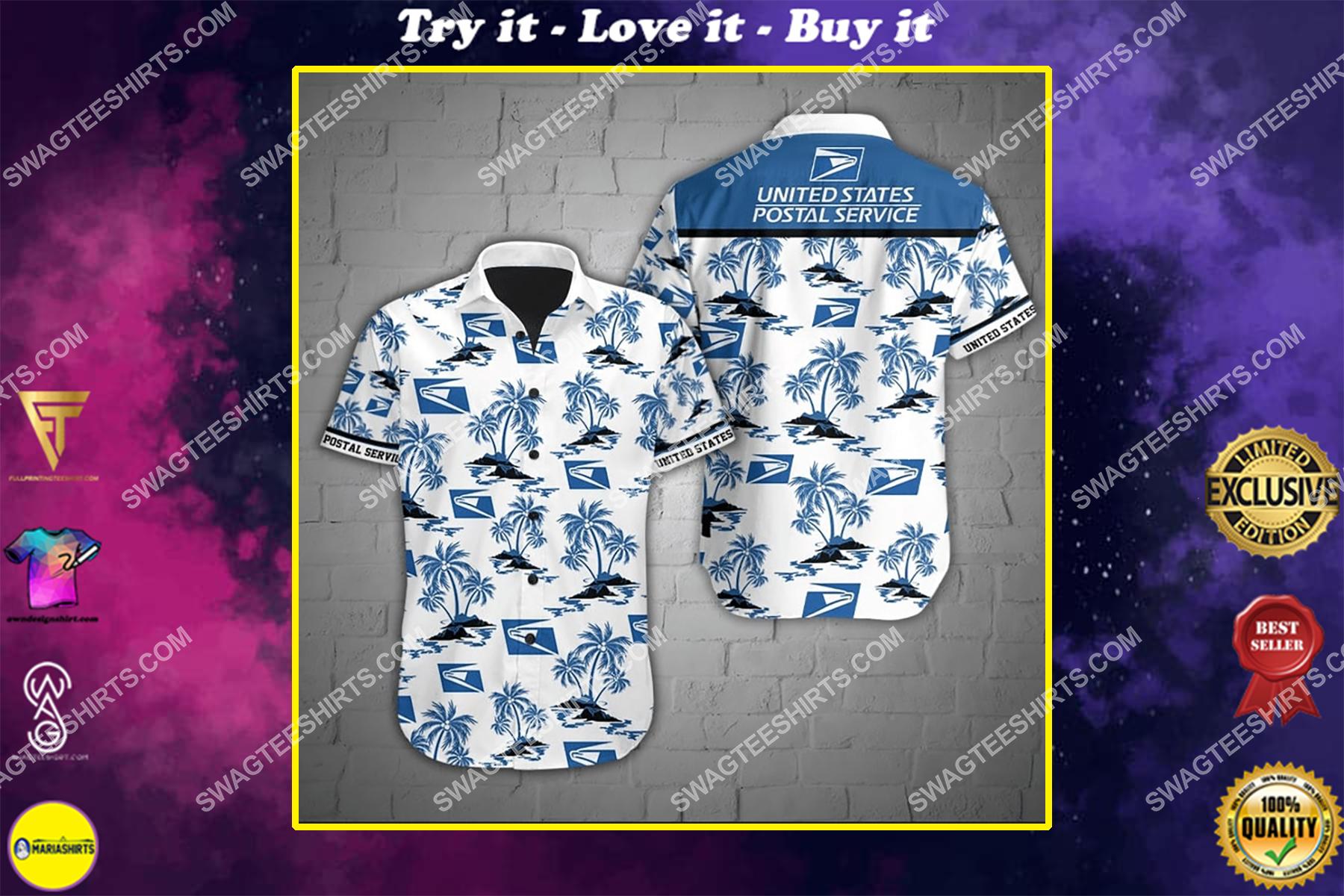 united states postal service full printing hawaiian shirt