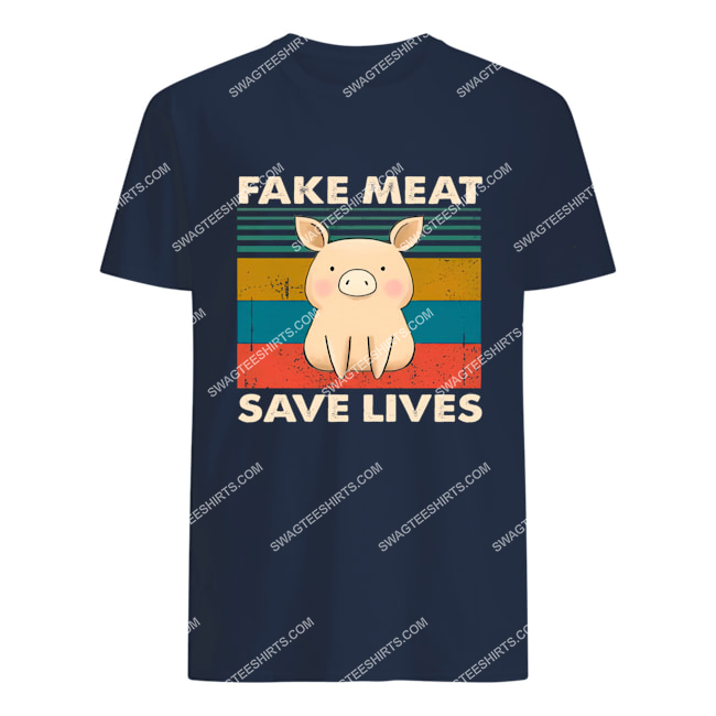 vegan pig fake meat save lives save animals tshirt 1