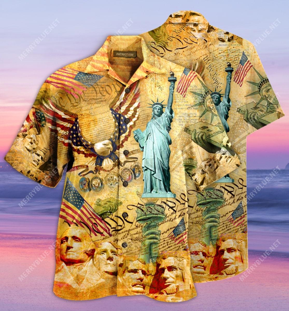 veteran american flag all over printed hawaiian shirt 2