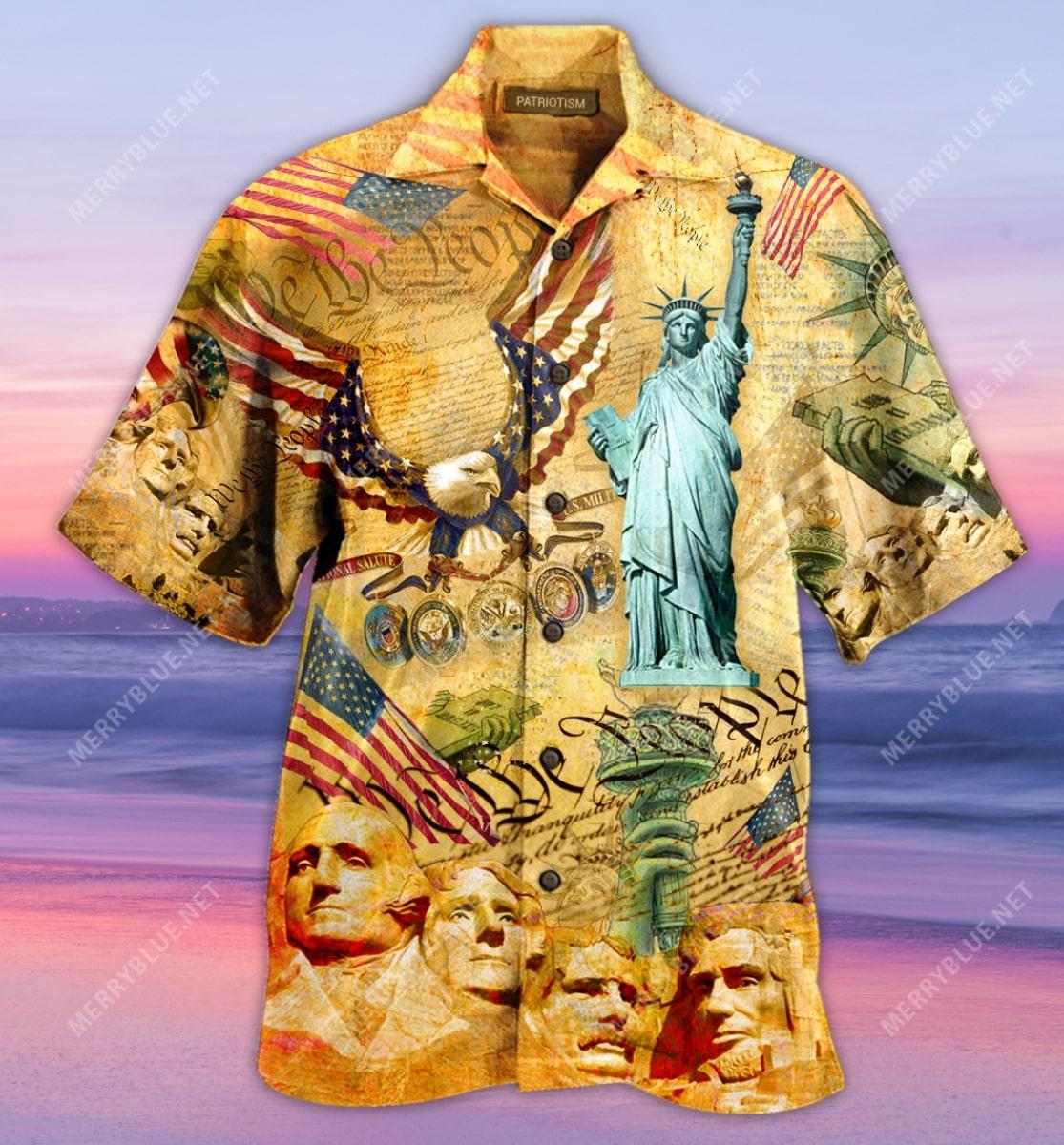 veteran american flag all over printed hawaiian shirt 4
