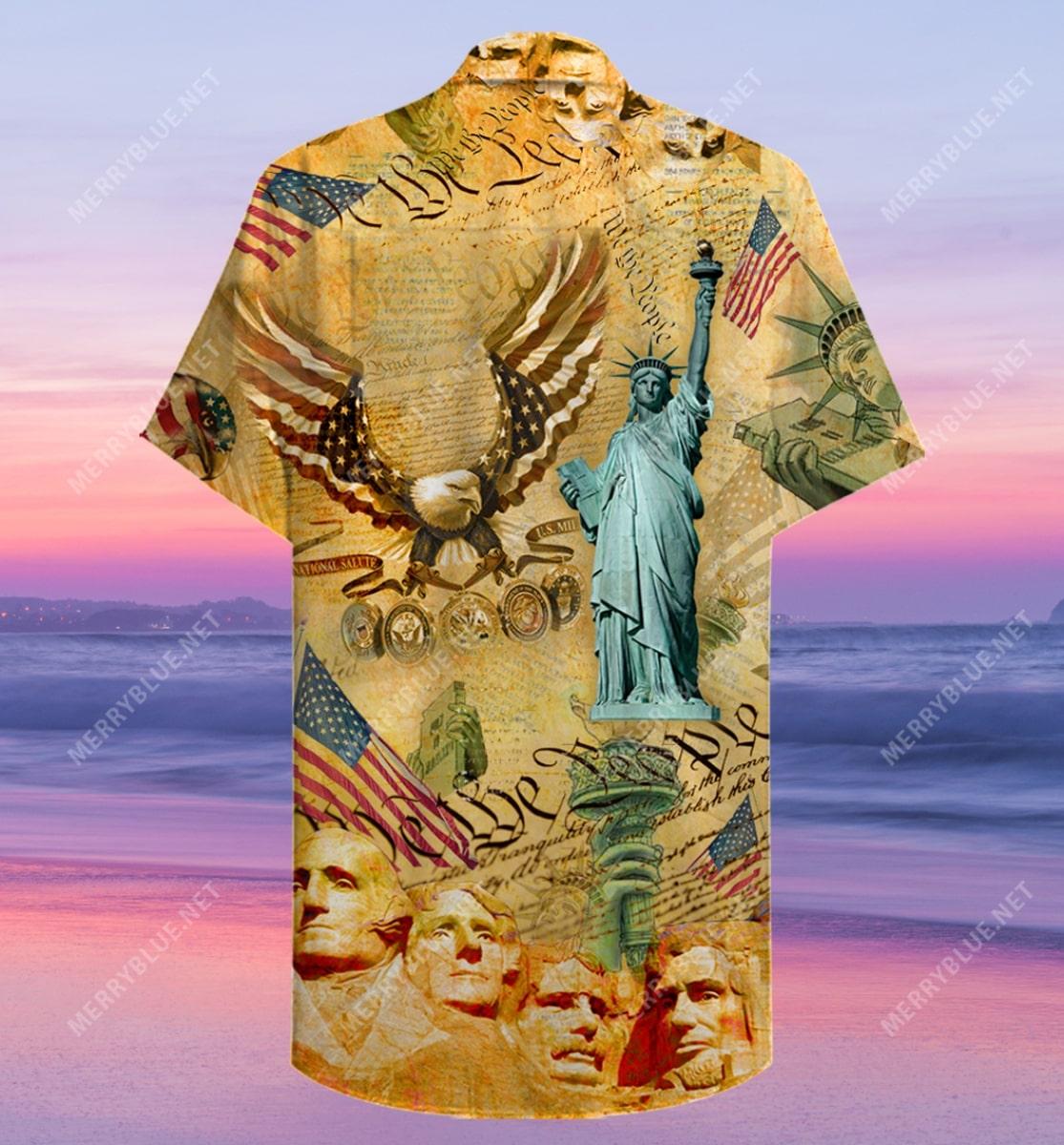 veteran american flag all over printed hawaiian shirt 5