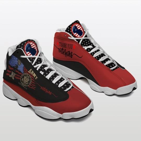 veteran boots and american flag all over printed air jordan 13 sneakers 2
