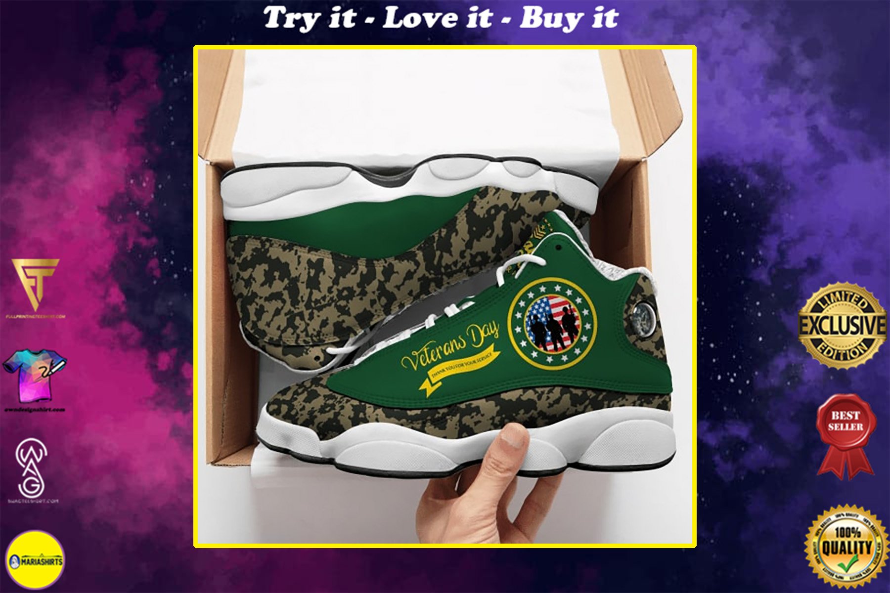 veterans day thank you for your service camo air jordan 13 shoes