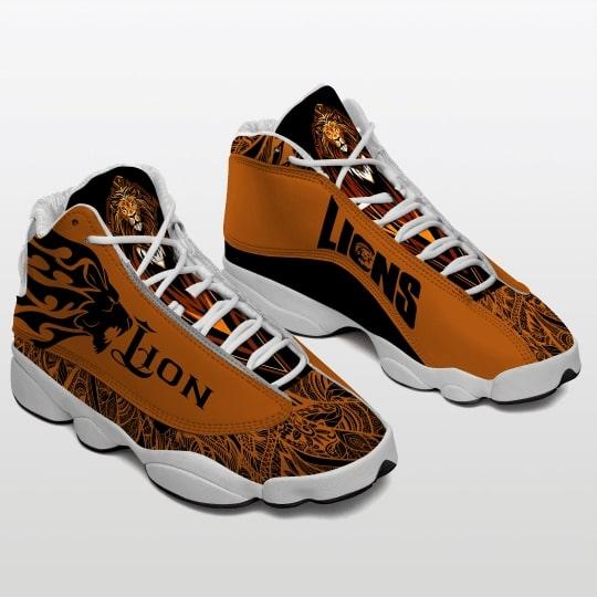 viking lions all over printed air jordan 13 sneakers 2