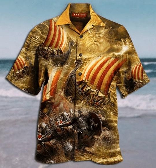 viking warrior all over printed hawaiian shirt 2