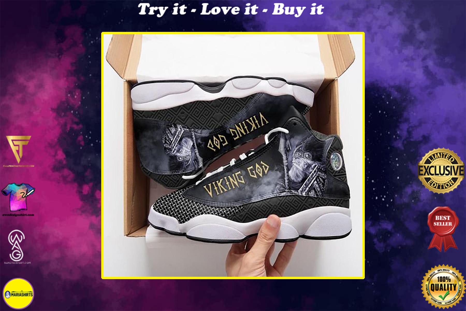 vikings odin God all over print air jordan 13 sneakers
