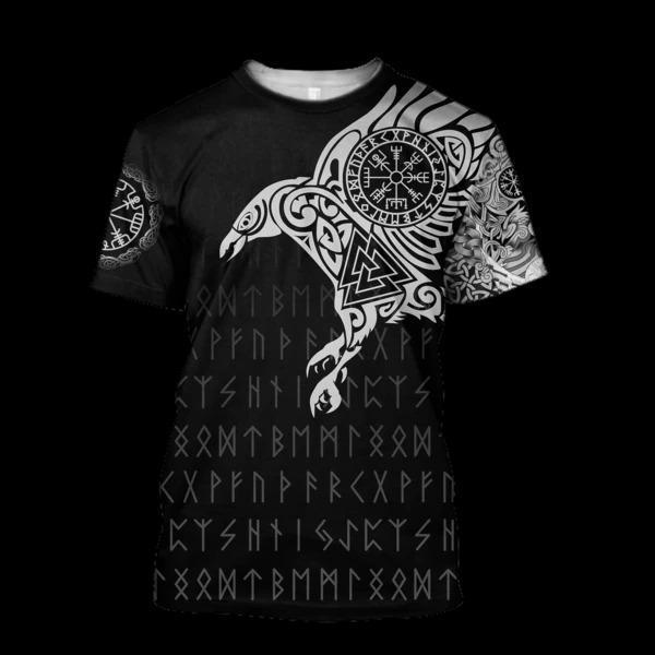 vikings the raven of odin tattoo full printing tshirt