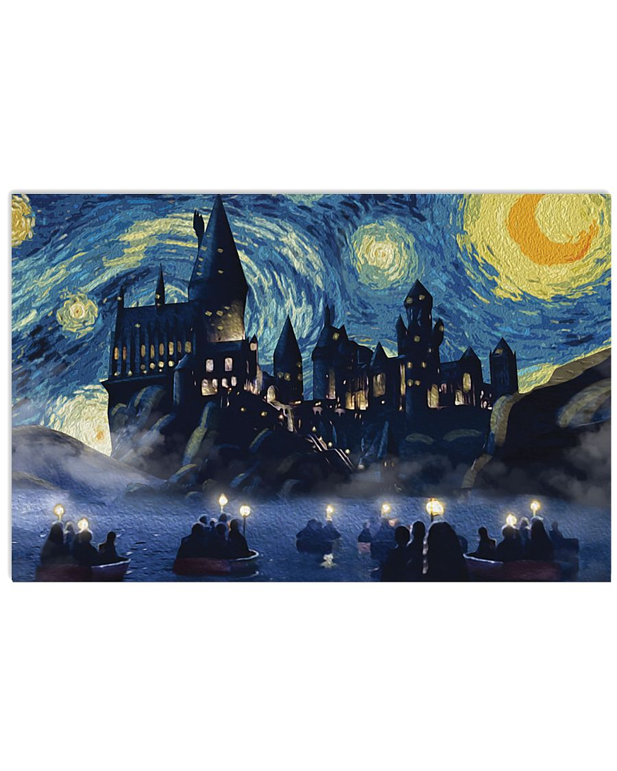 vincent van gogh starry night hogwarts harry potter poster 2