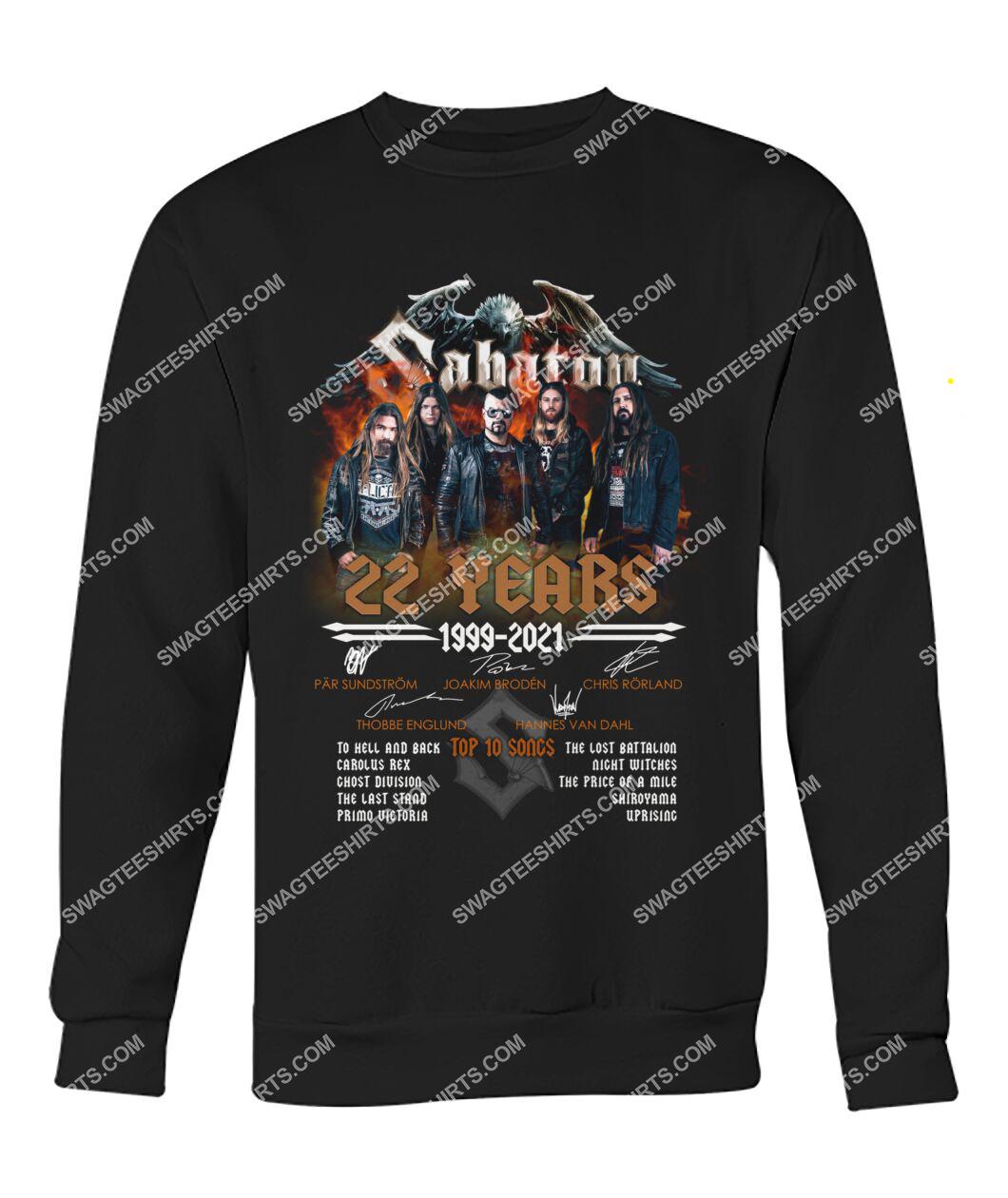 vintage 20 years sabaton music band sweatshirt 1