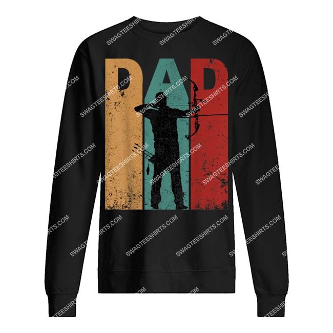 vintage archery dad 4th of july gift archer sweatshirt 1