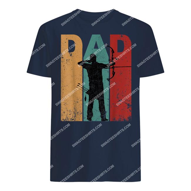 vintage archery dad 4th of july gift archer tshirt 1