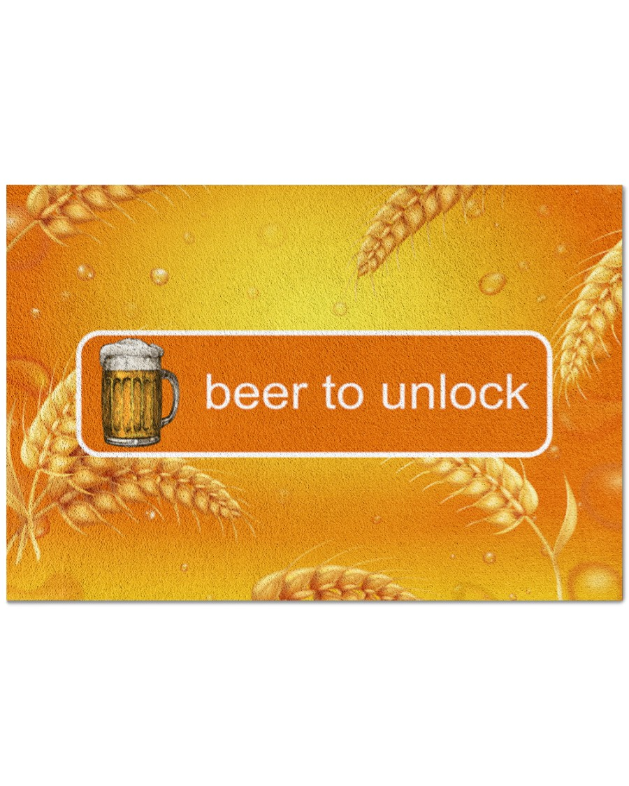 vintage beer to unlock all over print doormat 4