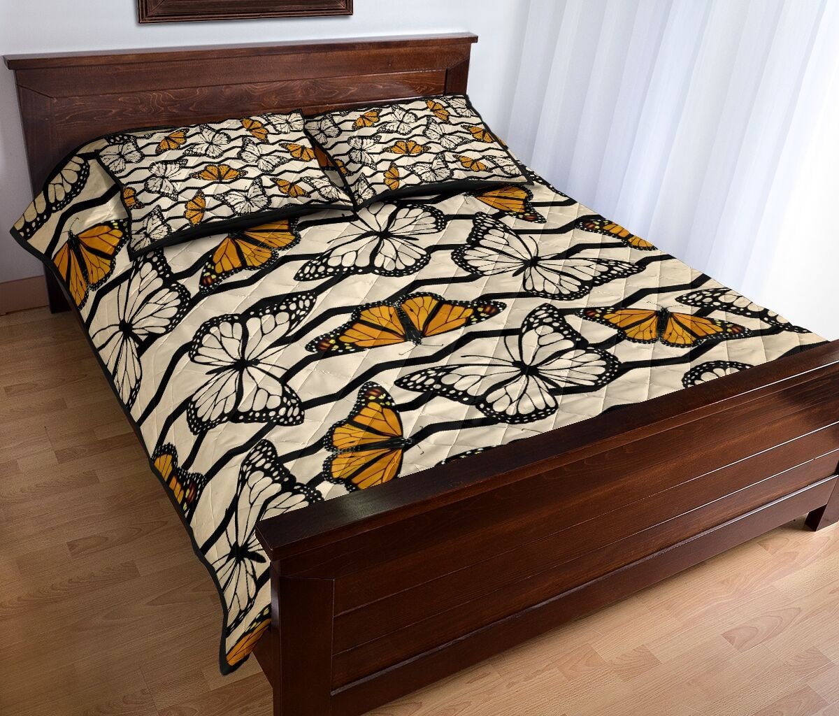 vintage butterfly in autumn full over print quilt 4