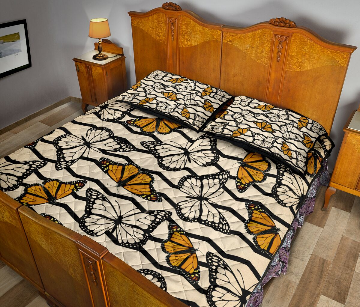 vintage butterfly in autumn full over print quilt 5
