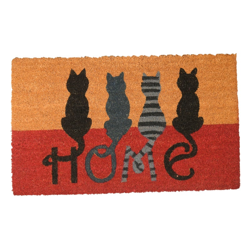 vintage cats at home all over print doormat 4