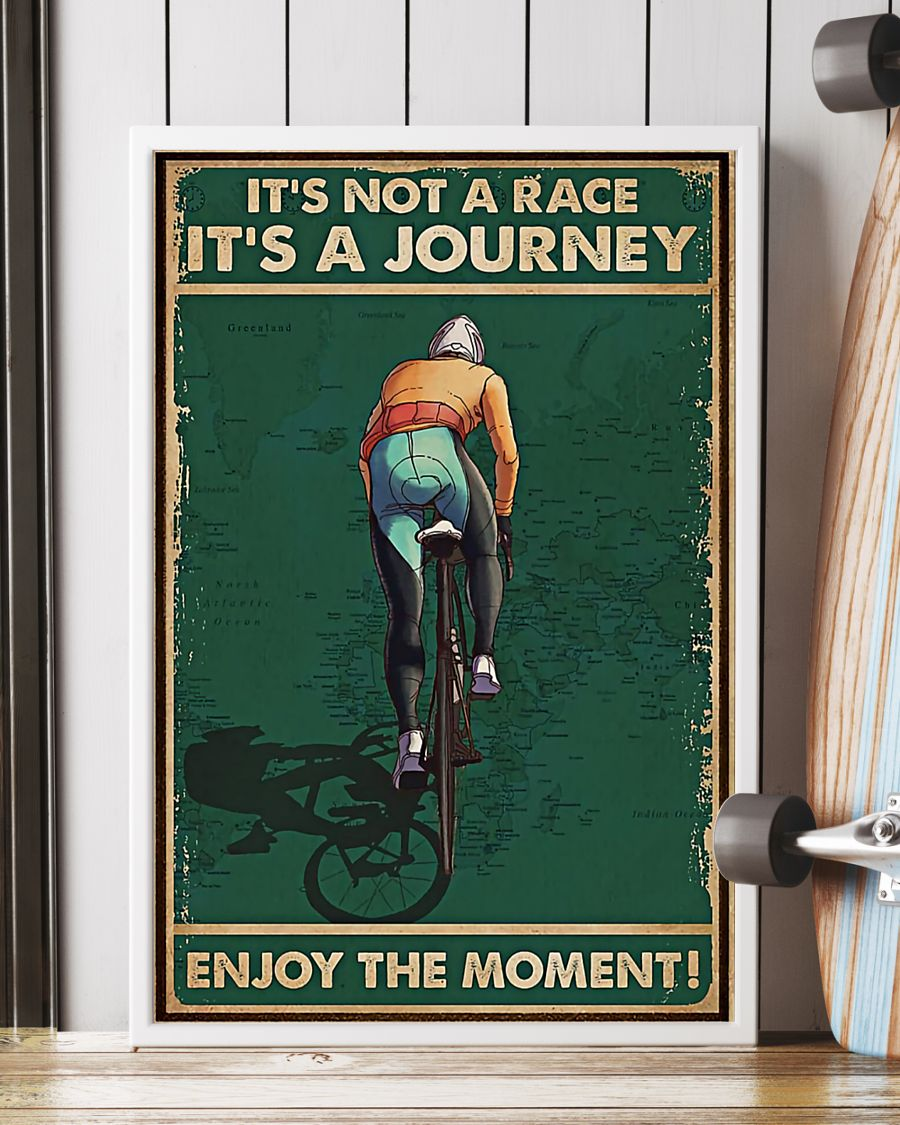vintage cycling its not a raceits a journey enjoy the moment poster 5