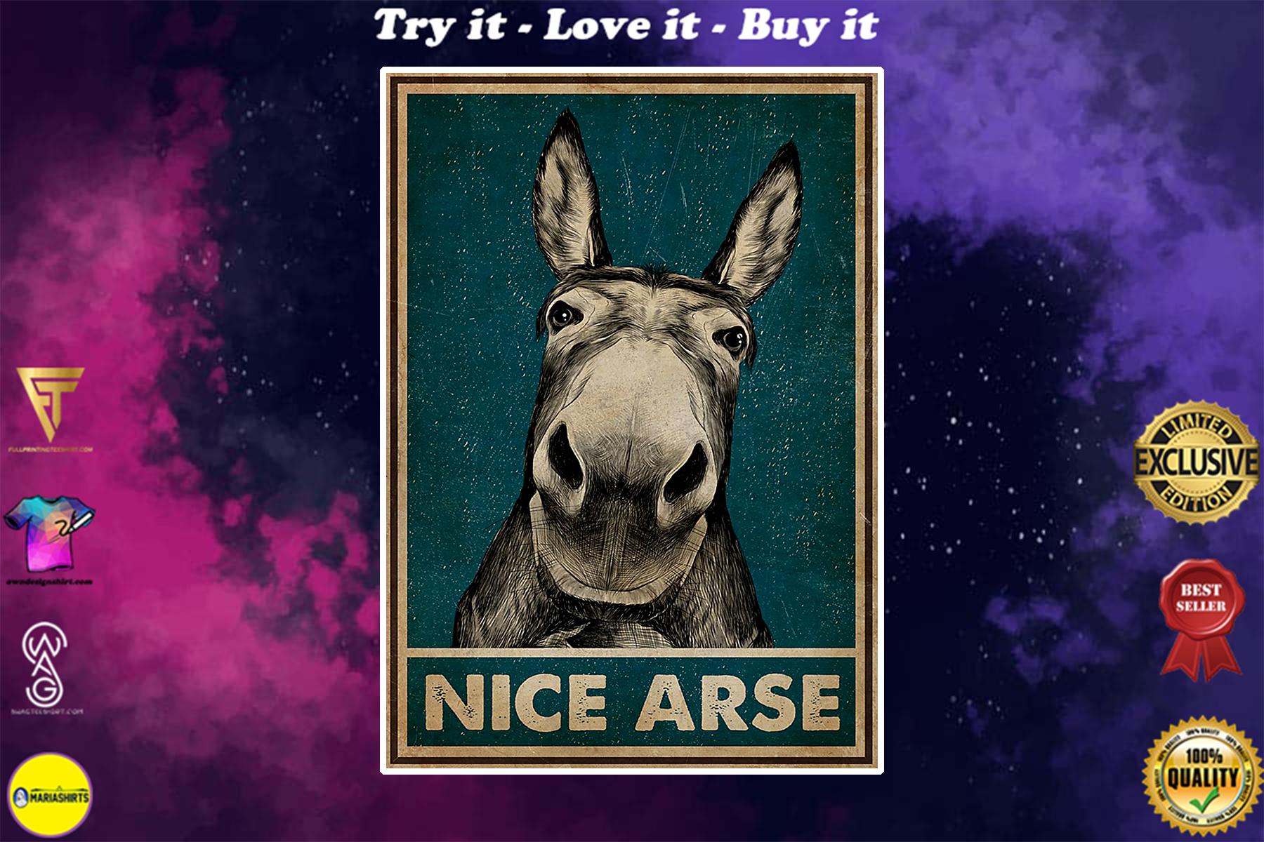 vintage donkey nice arse poster