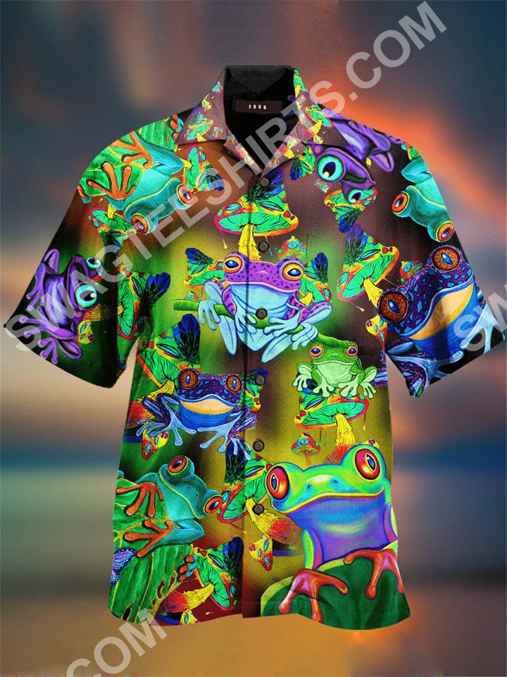 vintage frog colorful all over printed hawaiian shirt 2(1)