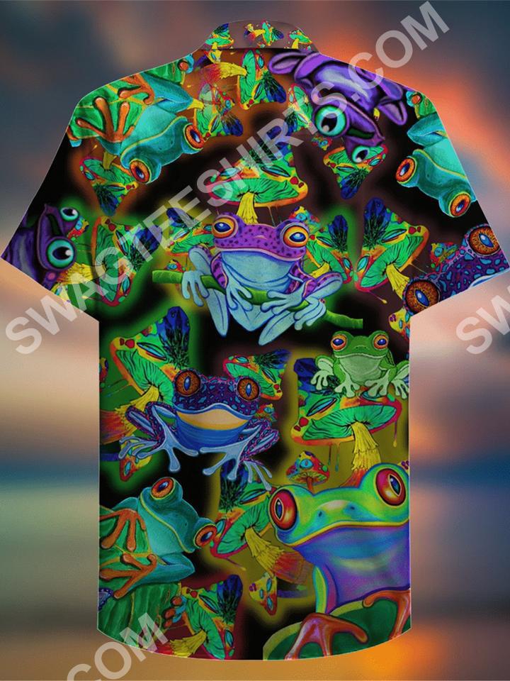 vintage frog colorful all over printed hawaiian shirt 3(1)