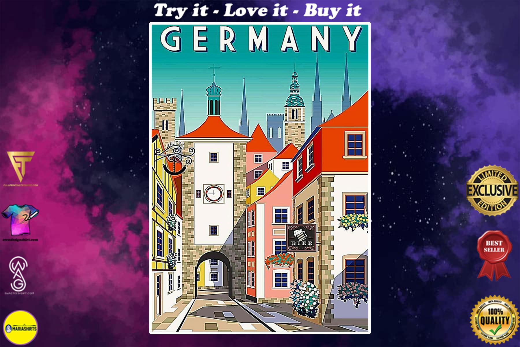 vintage germany street poster