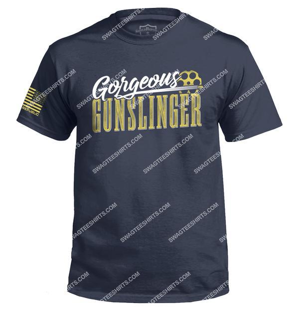 vintage gorgeous gunslinger gun control political shirt 2