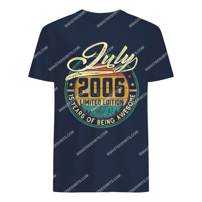 vintage july 2006 limited edition 15 years of being awesome tshirt 1