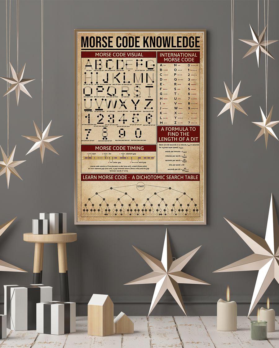 vintage morse code knowledge poster 4