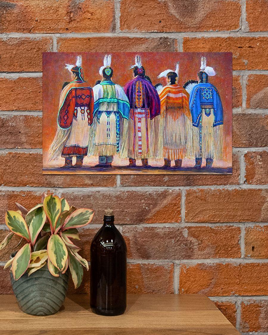 vintage native american woman poster 3