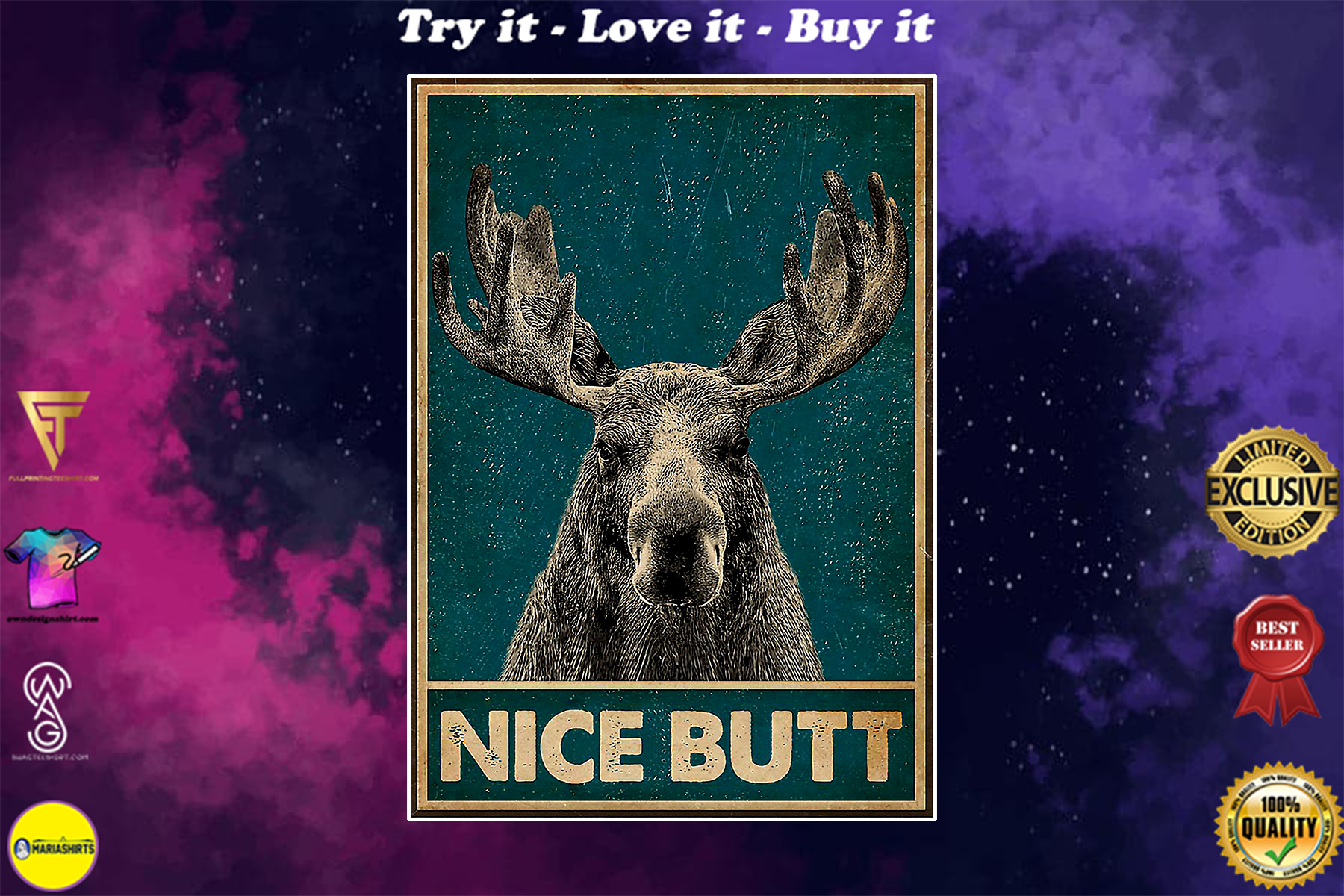 vintage nice butt moose poster