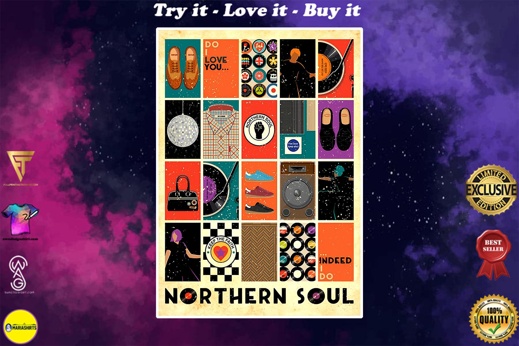 vintage northern soul poster