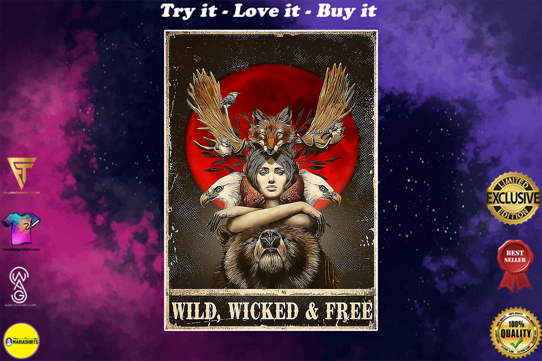 vintage wild wicked free poster