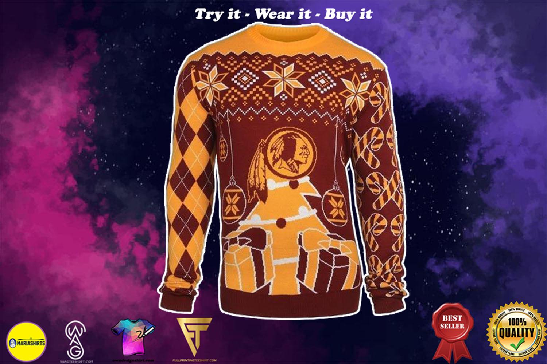 washington redskins ugly christmas sweater