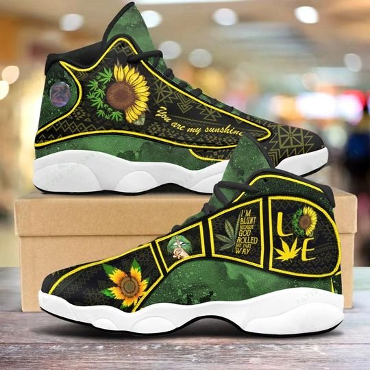 weed leaf you are my sunshine sunflower air jordan 13 sneakers 2