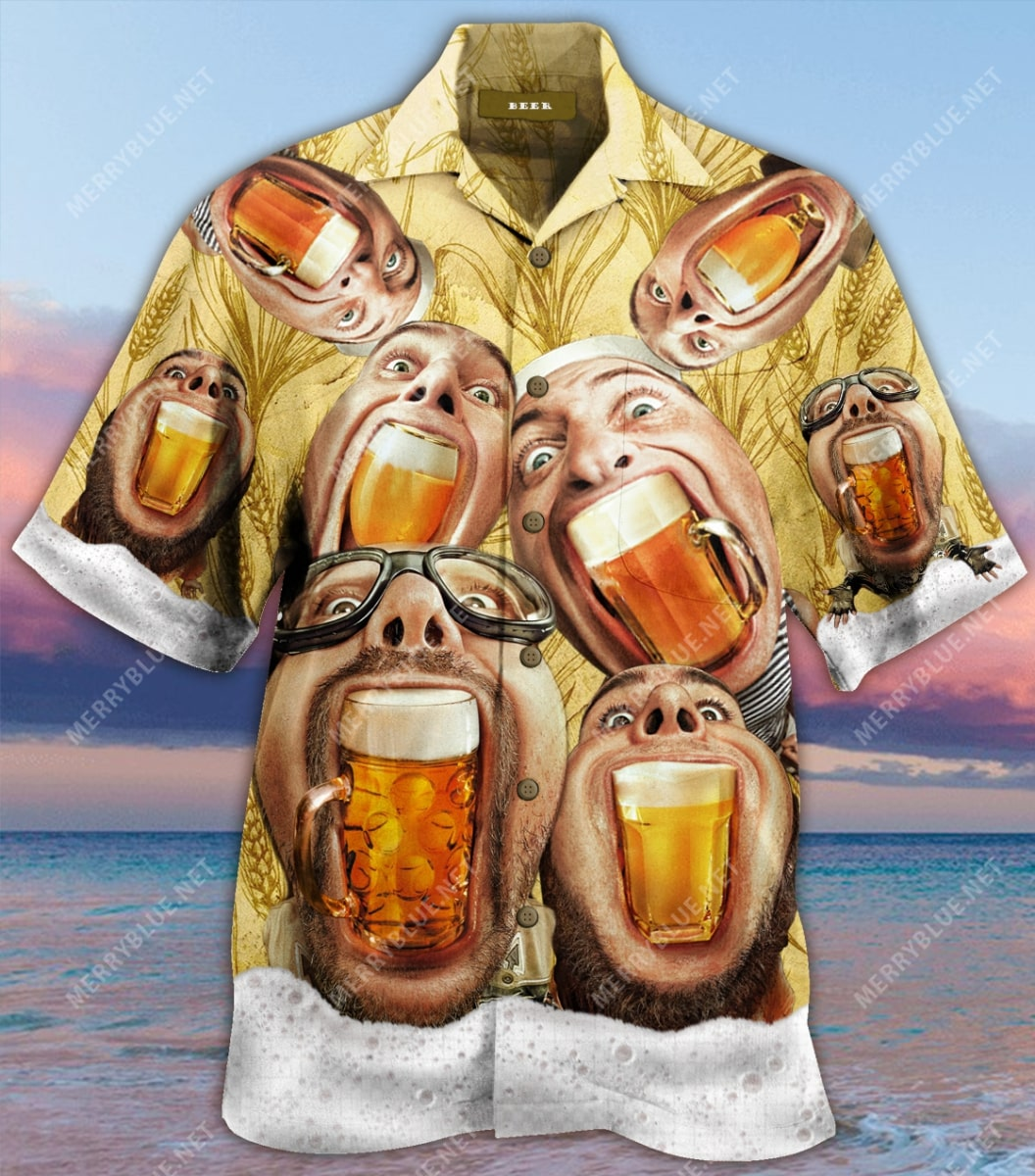 wish you were beer party all over printed hawaiian shirt 4